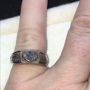 Harley Davidson 925 Ring Size 6-6.5